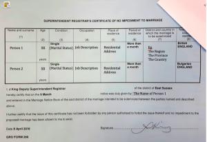 Certificate-Non-Impediment
