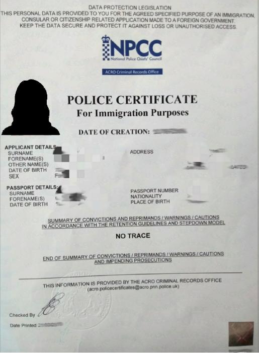 Acro Police Certificate >> Acro Police Certificate